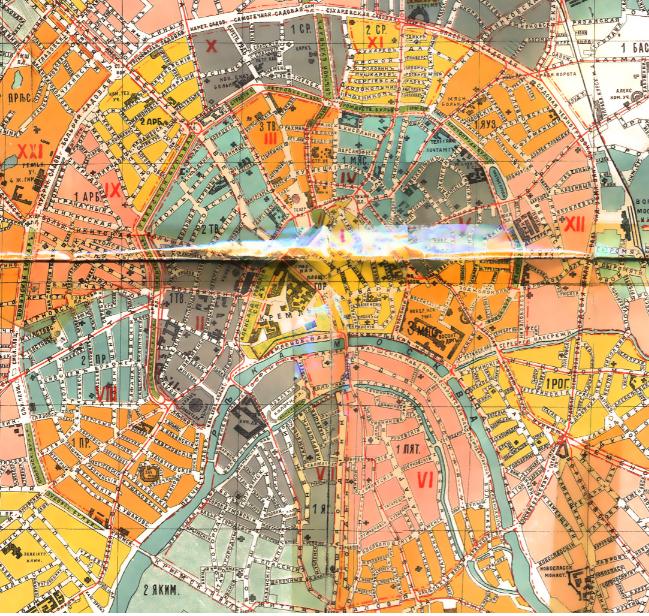 Карта Москвы, 1910 год