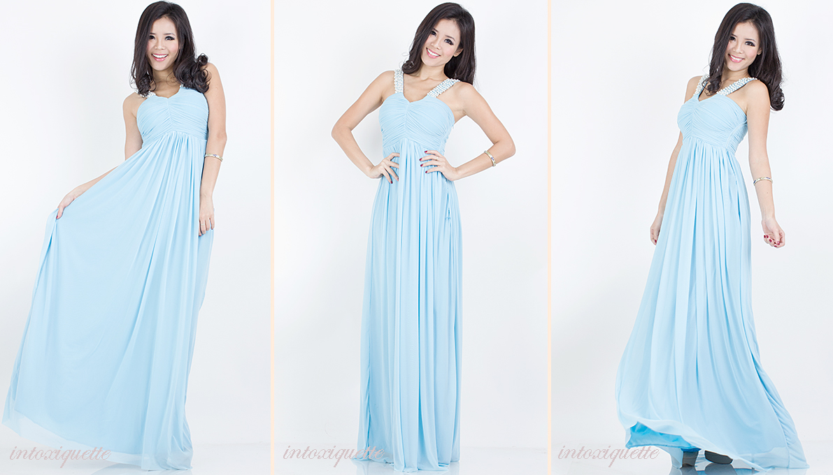 pearls maxi dress blue 2