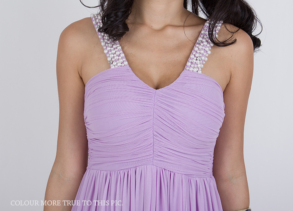 pearls maxi dress lilac 3