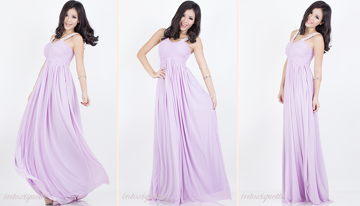 pearls maxi dress lilac 2