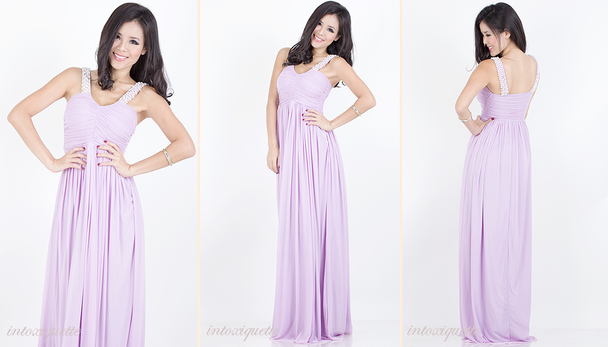 pearls maxi dress lilac 1