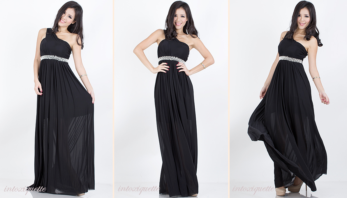 pearls toga maxi black 2
