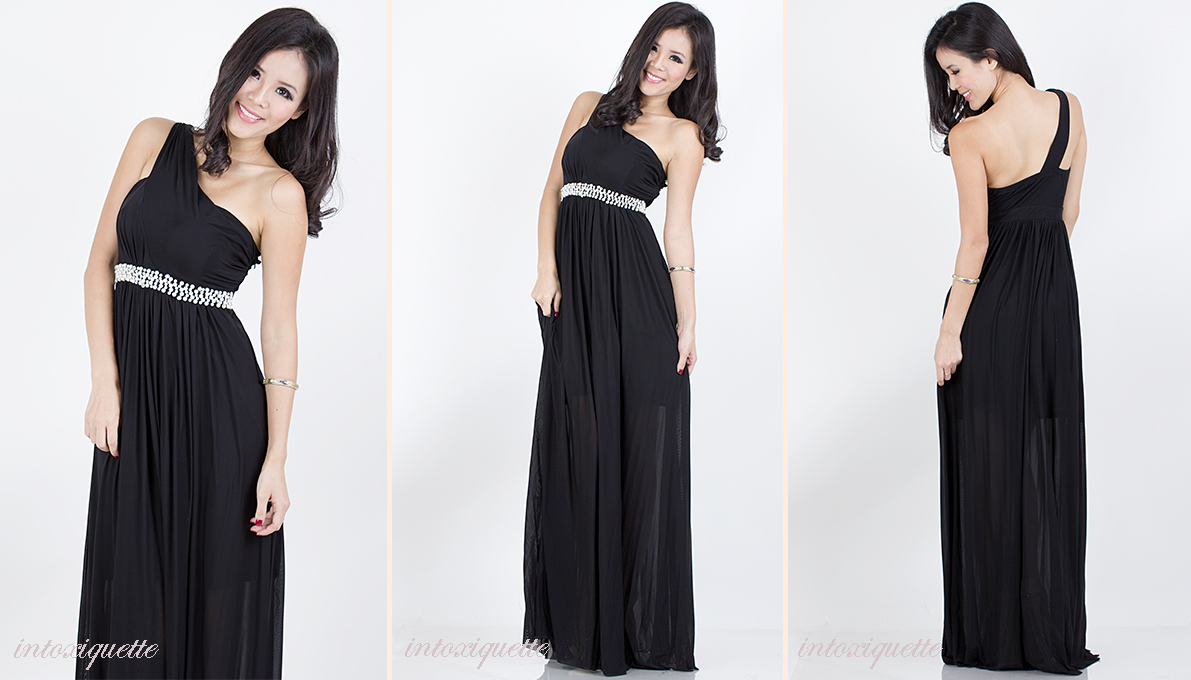 pearls toga maxi black 1