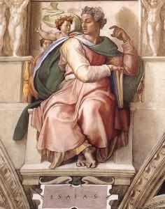 пророка Исайи из Сикстинской капеллы Микеланджело