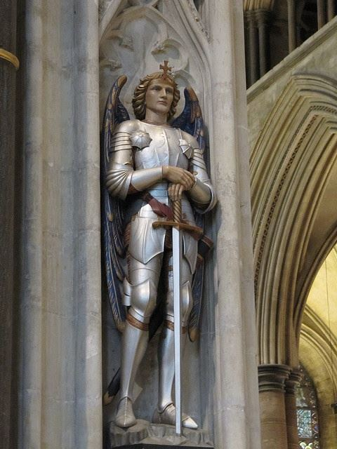 Archangel Michael, Salisbury Cathedral, England.