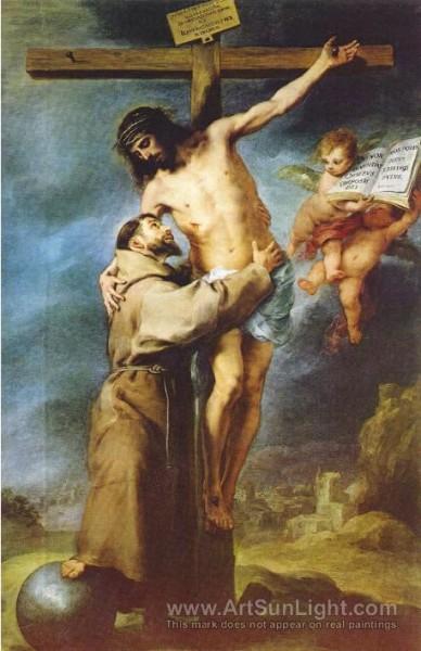 Saint Francis embracing Christ on the Cross c. 1668