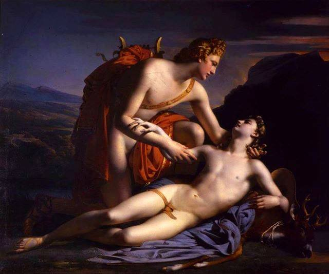 Claude Marie Dubufe (1790-1864) Apollo and Cyparissus 1820.jpg