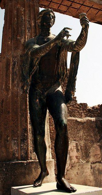 Statue in Temple of Apollo - at the ancient city of Pompeii, campania italy.jpg