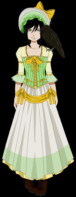Alexandra Quick, in a Questing Dress