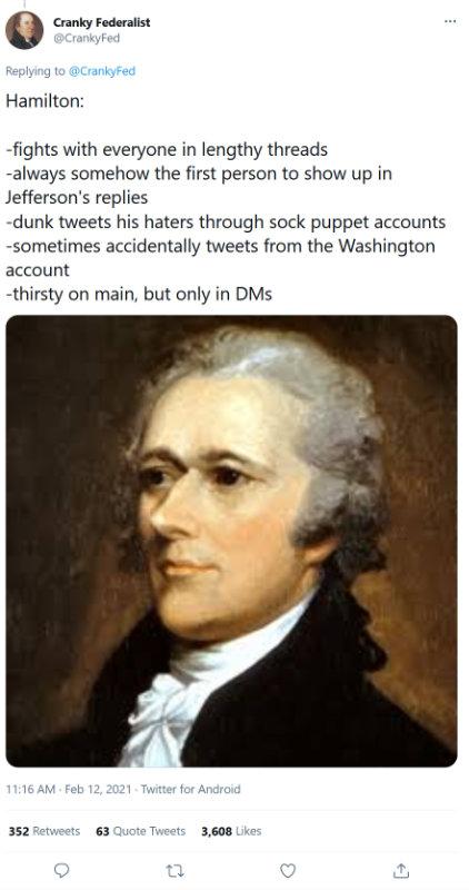 Hamilton on Twitter