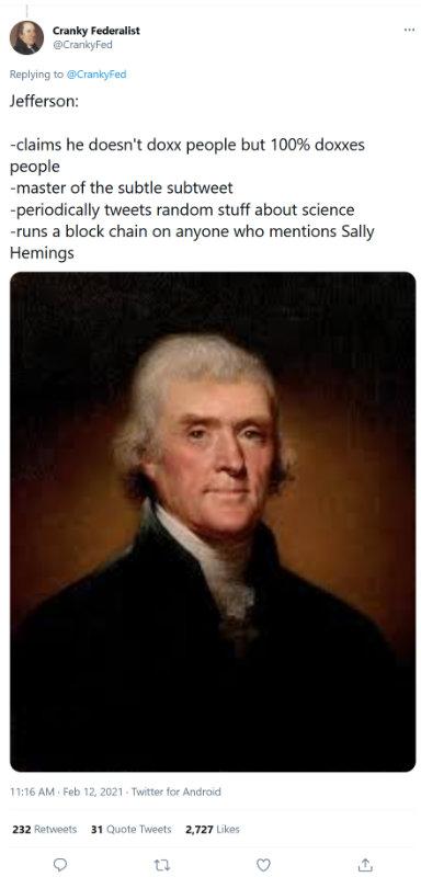 Jefferson on Twitter