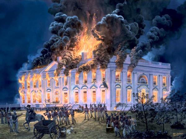 The White House burning
