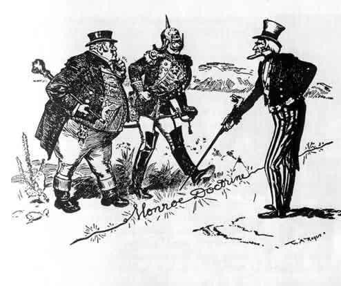Monroe Doctrine cartoon
