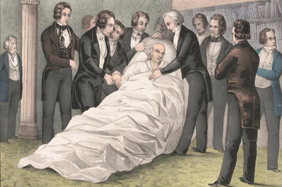 Death of John Quincy