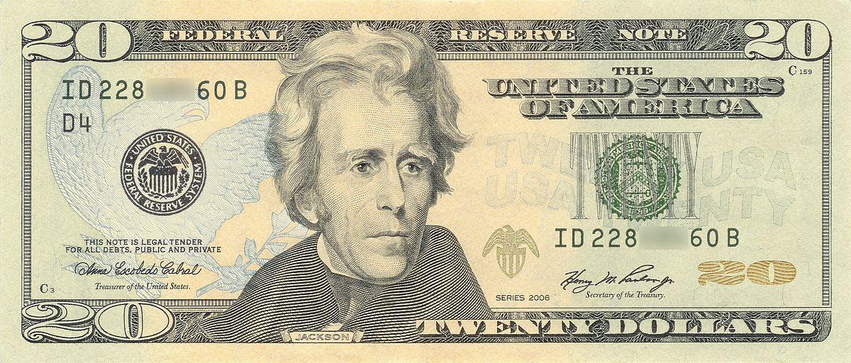 Jackson $20 bill
