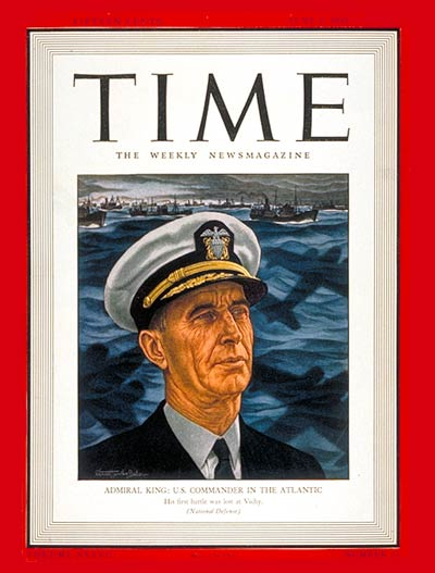 Admiral Earnest King (Time Magazine)