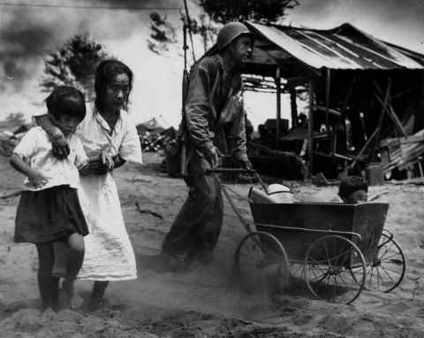 Japanese civilians at the Battle of Saipan