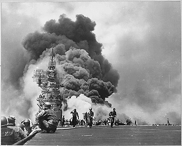 Kamikaze attack on the Bunker Hill