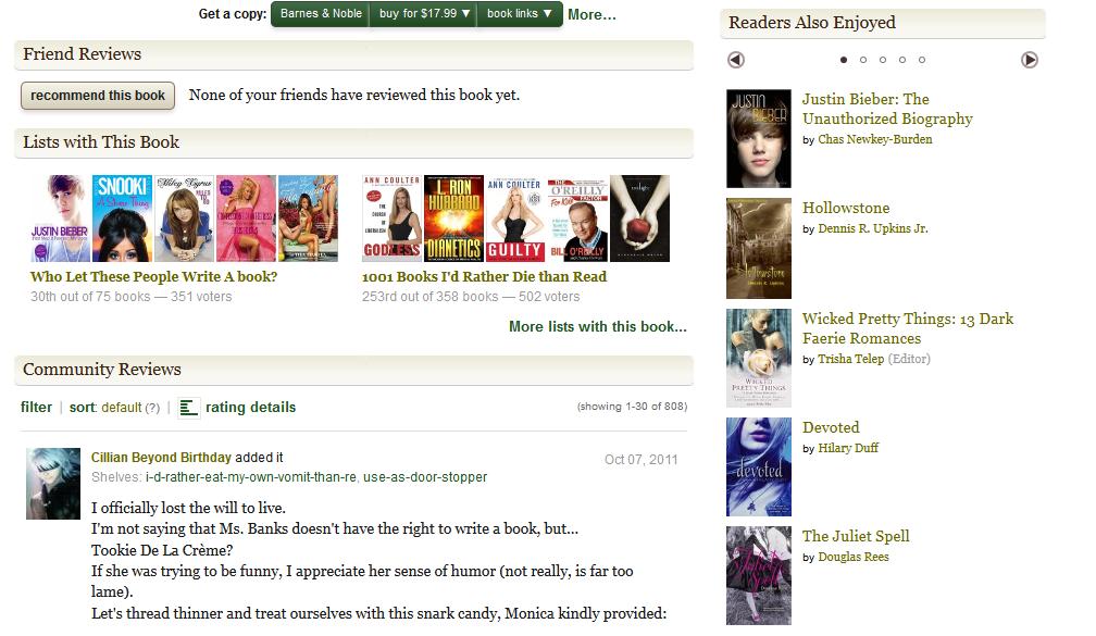 More Goodreads LOLs for Modelland