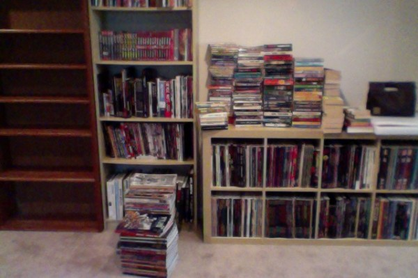 The unshelved paperback pile
