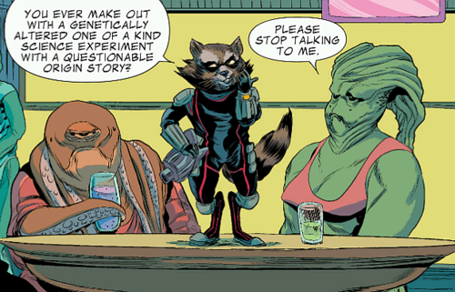 Rocket Raccoon trying his Game