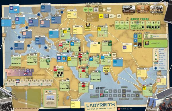 Labyrinth game in progress
