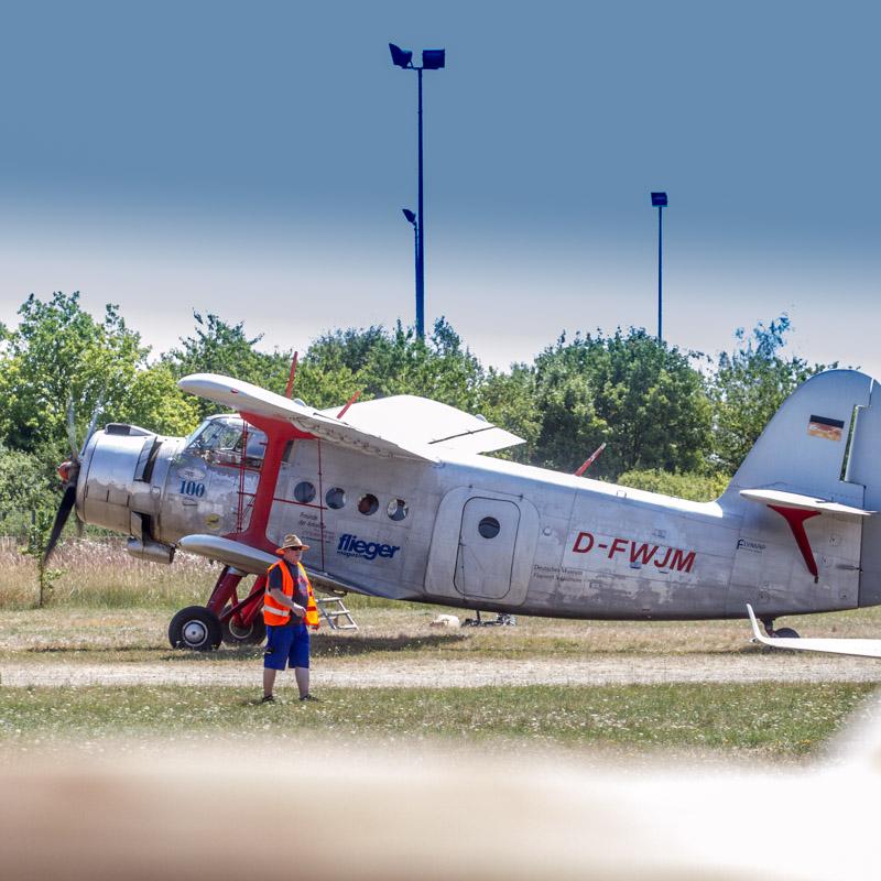 Ан-2 готовится к взлёту на аэродроме Обершляйсхайм. Немецкий музей, фото Мюнхена: Александр Иванов