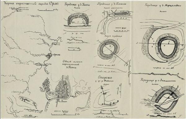 карта.археолог окрест. Орла. ++