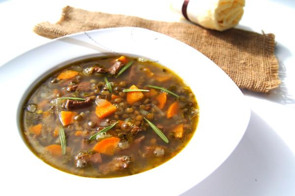 Рецепт суп с говядиной и чечевицей