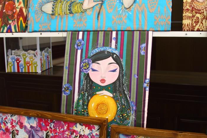 Картины на шёлке Анны Чикановой