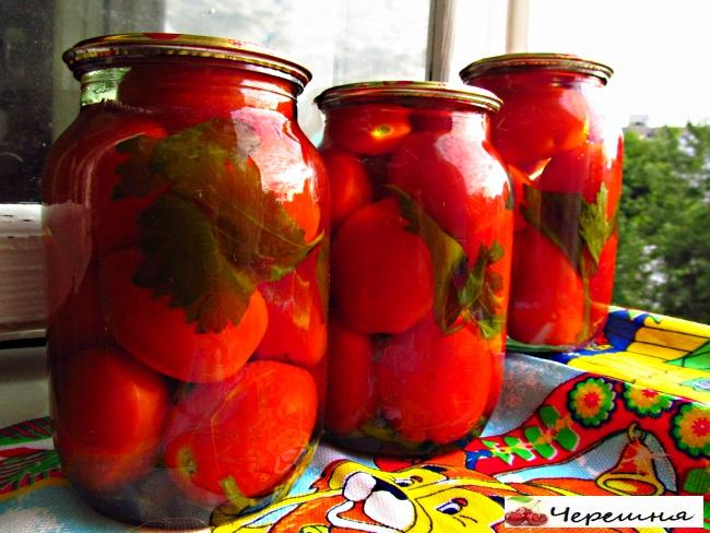 Сладкие помидоры с лимонной кислотой