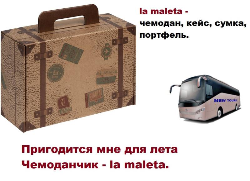 La maleta по-испански