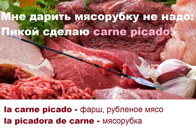 фарш, рубленое мясо по-испански