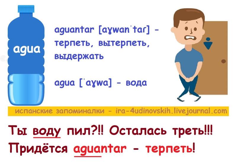 терпеть по-испански с транскрипцией