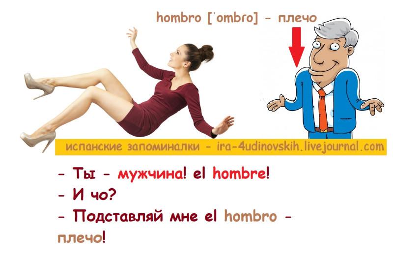 плечо по-испански с транскрипцией