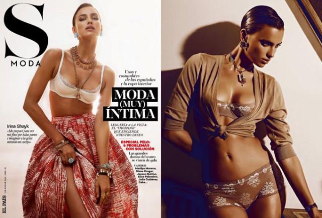 Irina Shayk in S Moda magazine