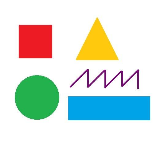 круг квадрат зигзаг картинки
