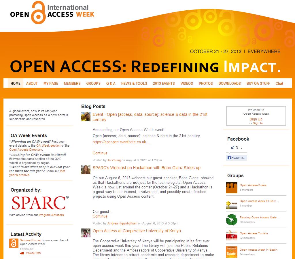OpenAccessWeek2013