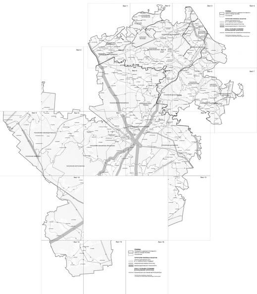 Склейка территориальных схем