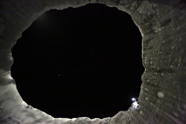 Ямал воронка Вид со дна