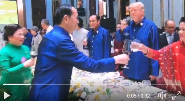 Вьетнам лидер США  на приеме