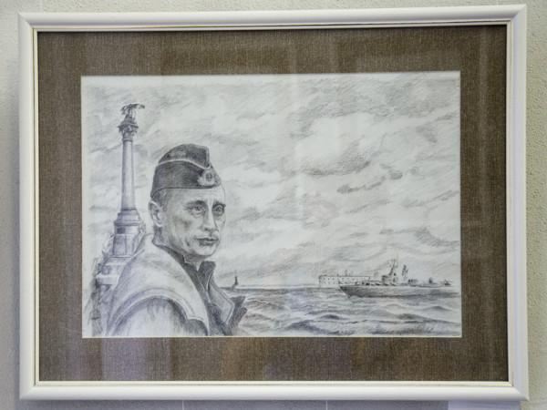 Путин на рисунке