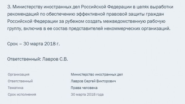 Поручения Путина 1