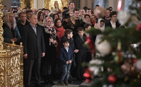 Путин в Рождество