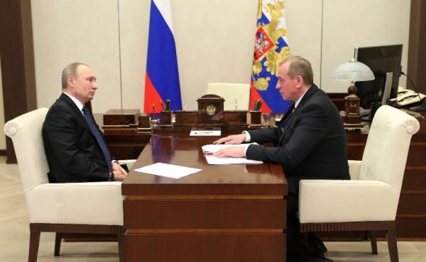 Путин и губернатор Иркутской облсати