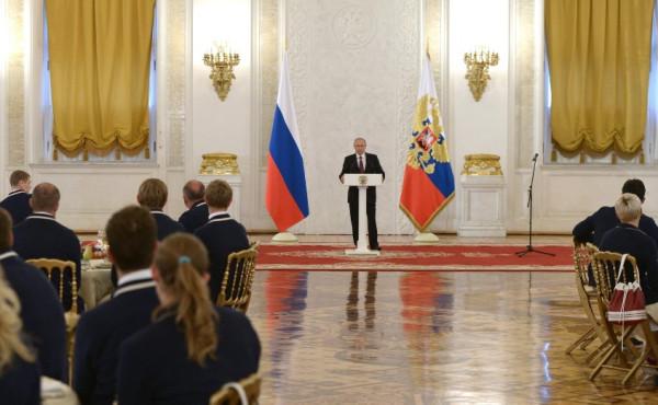 Путин и паралимпийцы в 2016
