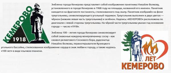 Кемерово 100 лет про эмблему