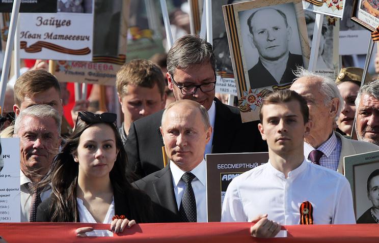 Путин на марша