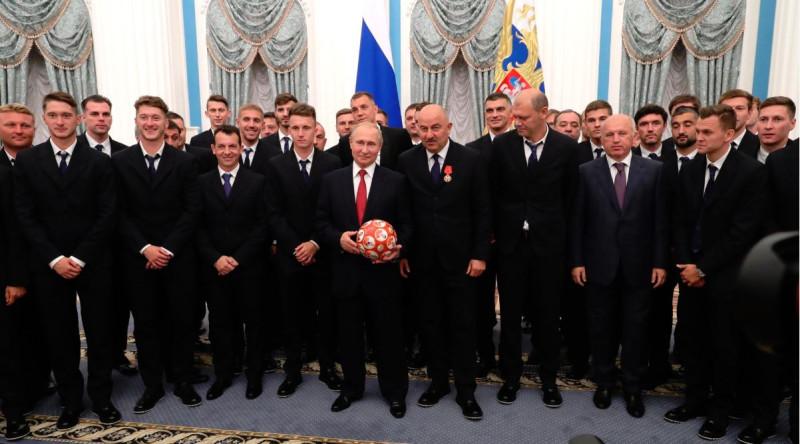 Путин в футболисты