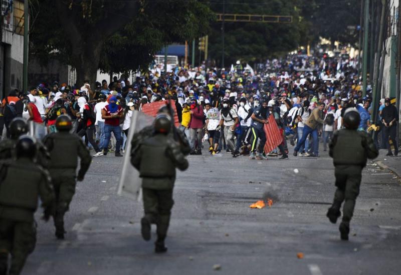 Мадуро и протесты Разгон